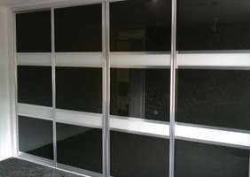 Examples of sliding wardrobes doors in an oriental style or split design.